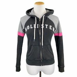 Hollister Black Long Sleeve Zip Up Hoodie